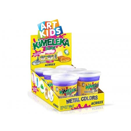 Kimeleka Metálica 180g, Caixa C/ 6 Unidades, Acrilex - Violeta Metálico