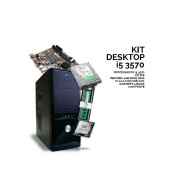 Kit Desktop 3570 Proc. I5 3570/1TB/4GB/H61/Gab. 4 Baias