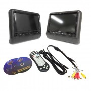 "Kit DVD Automotivo Knup KP-S102 C/ 2 Telas de 9"" TFT LED RGB 800X480 (SEMI-NOVO)"