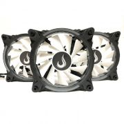 Kit Fan Gamer Rise Mode Wave RGB Energy 3 Fans W1-RGB S-LED