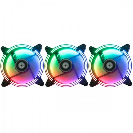 Kit Fan Rise Mode Tornado RGB Energy, 3 Fans 120mm - RM-TO-02-RGB