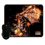 Kit Gamer Mouse + Mousepad OEX Arena MC102, LED, 2400DPI, 290x230mm