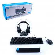 Kit Gamer Pro 4 em 1 HP GM3000, ABNT2, RGB, 1000 DPI - 303040830100