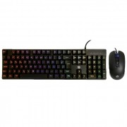 Kit Gamer Teclado e Mouse HP KM200, USB, RGB, ABNT2, 2400 DPI