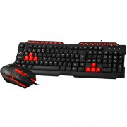 Kit Teclado e Mouse Gamer C3Tech GK-20BK, ABNT2, USB, 1200DPI
