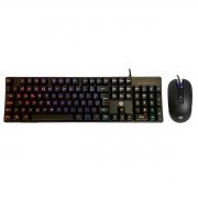 Kit Teclado e Mouse Gamer HP GM200, USB, Mecânico, RGB, ABNT2, 2400 DPI