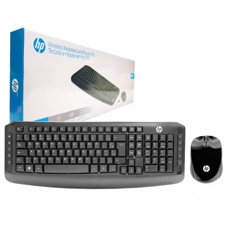 Kit Teclado e Mouse HP 300, Wireless, 1600DPI, ABNT2 - 3ML04AA#AC4