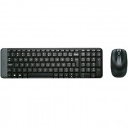 Kit Teclado e Mouse Logitech MK220 Wireless ABNT2 Preto