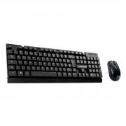 Kit Teclado e Mouse Wireless C3Tech C3Plus K-W11BK, ABNT2, 1000DPI