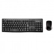 Kit Teclado e Mouse Wireless C3Tech K-W30BK, USB, ABNT2, 1000 DPI