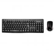 Kit Teclado e Mouse Wireless C3Tech K-W30BK, USB, ABNT2, 1000 DPI