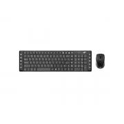 Kit Teclado e Mouse Wireless C3Tech K-W50BK, ABNT2, 1600 DPI