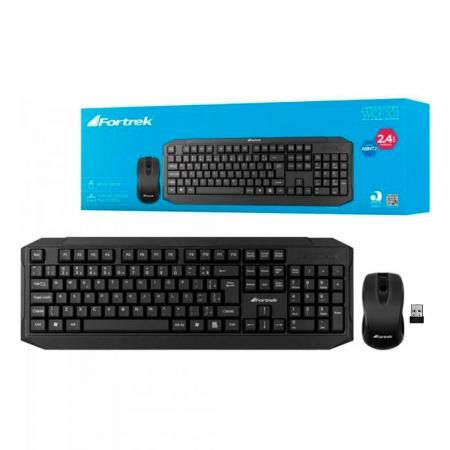 Kit Teclado e Mouse Wireless Fortrek WCF10, ABNT2, 1200DPI, Preto - 71676
