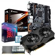 Kit Upgrade Gamer Xtreme, Gigabyte B360M Aorus Gaming 3, I7-9700KF, RTX 2060, 16GB DDR4 2666MHz