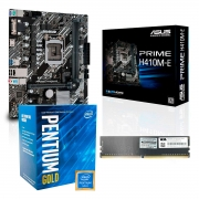 Kit Upgrade Home Office, Asus Prime H410M-E, Intel Pentium Gold G6400 4GHz, Micron 8GB DDR4 2666MHz