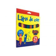 Lapis de Cor Gattekids Hexagonal 24 Cores, Pacote c/ 6 Unidades, Make+