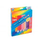Lápis de Cor Mega Soft Color 48 Cores, Caixa c/ 48 Cores - Tris - 684055