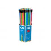 Lápis HB Neon Com Borracha Nataraj, Caixa Com 72 Unidades, Cis - 457800