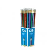 Lápis Metallic com Borracha, Pote c/ 72 Unidades - Cis - 457600
