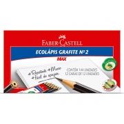 Lápis N.2 Max Preto Sextavado, Caixa C/ 144 Unidades, Faber Castell - 1205SM/144