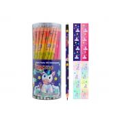 Lápis Preto HB Estampa de Unicórnio Com Borracha Contém 72 Unidades Kaz - 762073
