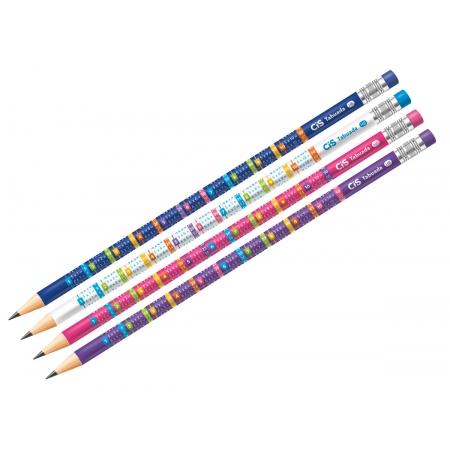 Lápis Preto HB Tabuada Com Borracha, Pote Com 48 Unidades, Cis - 528400