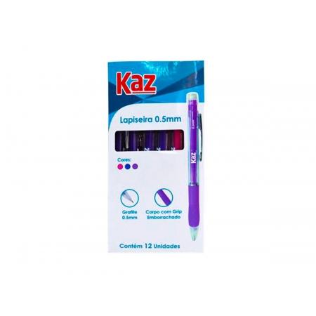 Lapiseira 0.5 mm Cores Sortidas Contém 12 Unidades Kaz - 761090