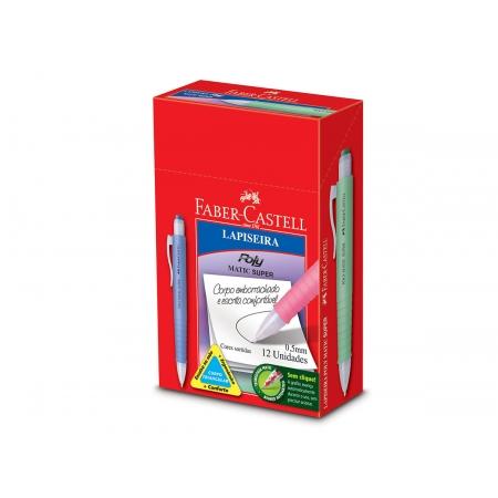 Lapiseira Poly Matic Super 0.5 mm, Caixa C/ 12 Unidades, Faber Castell - LP05PMS