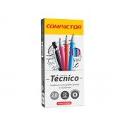 Lapiseira Tecnico 2.0 mm Cores Sortidas, Caixa C/ 12 Unidades, Compactor
