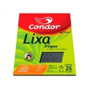 Lixa de Agua Alta Durabilidade, Grão 180, 225x275mm, Pacote C/25 Folhas, Condor - 1020