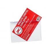 Malote Com Ziper Slide / PVC / 310 X 201 mm, Pacote C/ 5 Unidades, Dac - Cristal