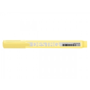 Marca Texto Destaq Amarelo Pastel, Cx. C/12 Unidades - Compactor - 1753081