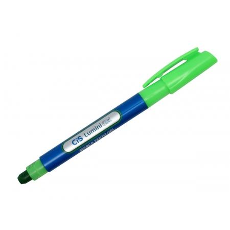 Marca Texto Lumini Gel, Caixa Com 12 Unidades, Cis - Verde - 550700