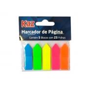 Marcador de Página Color Contém 05 Blocos Com 25 Folhas Caixa Com 12 Unidades Kaz - 752593