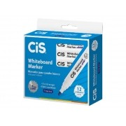 Marcador para Quadro Branco Whiteboard Marker, Caixa Com 12 Unidades, Cis - Azul - 468200