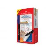 Marcador Retroprojetor 1.0 Media, Caixa c/ 12 Unidades, Faber Castell - Azul - CDRETRO/AZZF