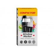 Marcador Window Branco, Pacote C/ 3 Unidades, Compactor