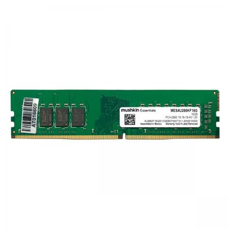 Memória 16GB Mushkin Essentials MES4U266KF,16GB, DDR4, 2666MHz, CL19
