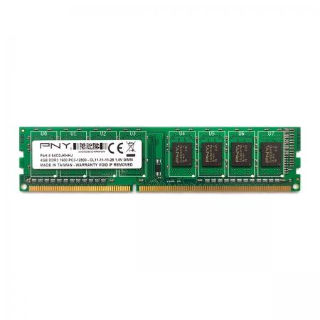 Memória 4GB PNY, 1600MHz, DDR3, CL11 - MD4GSD31600BL
