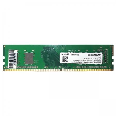 Memória 8GB Mushkin Essentials, DDR4, 2666MHz, CL19 - MES4U266KF8G