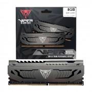 Memoria Gamer 8GB (1x 8GB), Patriot Viper Steel, DDR4, 3000MHz, CL16, XMP 2.0 - PVS48G300C6