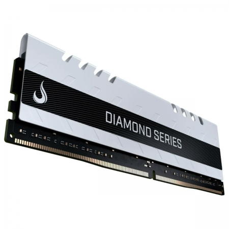 Memória Gamer Rise Mode Diamond 8GB, DDR4, 2400MHz, CL15, Branca - RM-D4-8G-2400D WHITE