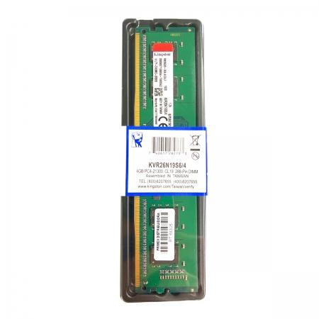 Memória Kingston 4GB DDR4 2666MHz CL19 - KVR26N19S6/4