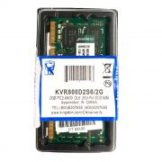 Memória P/ Notebook Kingston 2GB DDR2 800MHz PC2-6400 KVR800D2S6/2G