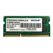 Memória para Notebook 4GB Patriot Signature Line DDR3L 1600MHz CL11 PSD34G1600L2S