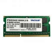 Memória para Notebook 4GB Patriot Signature Line DDR3L 1600MHz CL11 PSD34G1600L2S