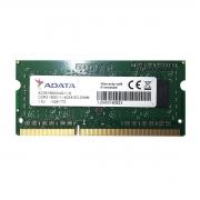 Memória para Notebook Adata 4GB, DDR3, 1600MHz, CL11 - AD3S1600W4G11-S