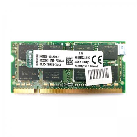 Memória para Notebook Kingston 2GB, DDR2, 667MHz, CL5 - KVR667D2S5/2G