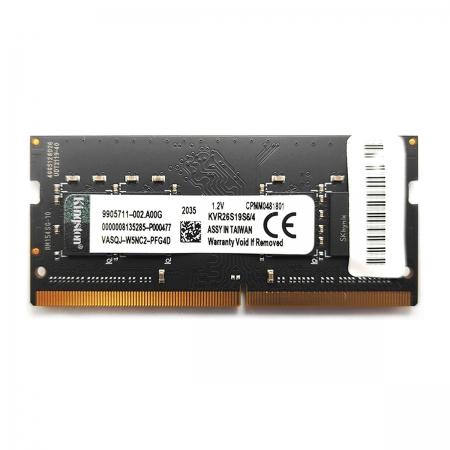 Memória para Notebook Kingston, 4GB, DDR4, 2666MHz, CL19 - KVR26S19S6/4
