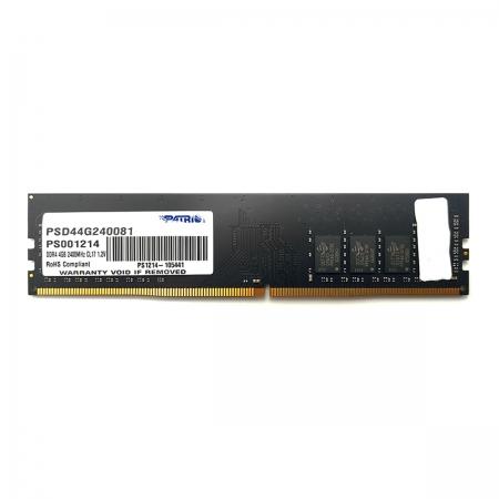 Memória Patriot Signature Line 4GB, DDR4, 2400MHz, CL17, 1.2V - PSD48G240081